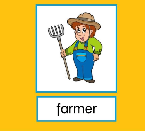 "Flashcards Bauernhof ""The farm"""