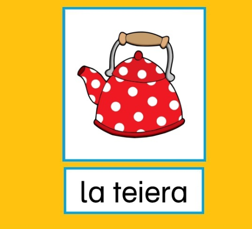 "Flashcards Küche ""la cucina"""
